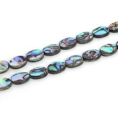 beadia 10x13mm ovális természetes abalone tengeri kagyló gyöngyök (38cm / kb 29pcs)