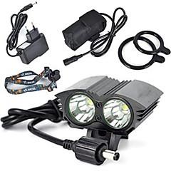 Bisiklet Işıkları bisiklet kızdırma ışıklar emniyet ışıkları LED Cree XM-L T6 Bisiklet Süper Hafif 18650 Lityum Pil 6000 Lümen PilDoğal