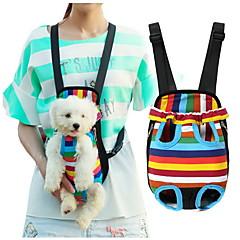 قط كلب الحاملة حقائب تحمل على الظهر وللسفر جبهة الظهر حيوانات أليفة سلال مخطط المحمول شريط