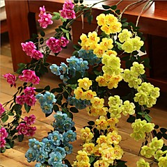 Set of 1 PCS 1 Κλαδί Πολυεστέρας Τριαντάφυλλα Λουλούδι για Τραπέζι Ψεύτικα λουλούδια Long 35.4(inch)