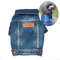 honden Denim jacks Blauw Hondenkleding Winter / Lente/Herfst Jeans Schattig / Cowboy / Modieus