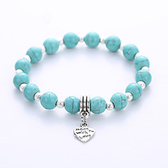 Heren Dames Strand Armbanden Hologramarmband yoga Armband Birthstones Geboortestenen Modieus Europees Kostuum juwelen Turkoois Legering