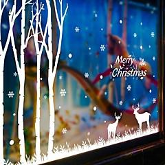 크리스마스 / 카툰 / 휴일 벽 스티커 플레인 월스티커 데코레이티브 월 스티커,PVC 자료 이동가능 / 재부착가능 홈 장식 벽 데칼