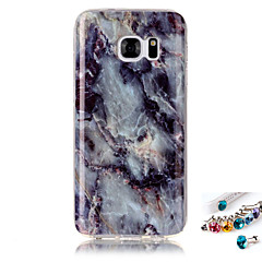 A samsung galaxis s7 s6 élborító esetében márvány mintafestés imd technológia tpu anyag telefon héj és pordugó kombináció