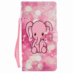 Voor Sony xperia xa ultra x performance case cover roze olifant geverfd lanyard pu telefoon hoesje