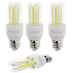 7W E26/E27 LED-kolbepærer T 6 COB 600 lm Kold hvid Dekorativ V 4 stk.