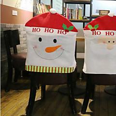 criativo conjunto de cadeira boneco de ornamento do Natal