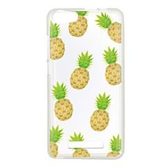 Voor wiko lenny 3 zonsondergang 2 case cover ananas patroon achterkant zachte tpu lenny 3 zonsondergang 2