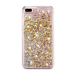 Voor iPhone 8 iPhone 8 Plus iPhone 7 iPhone 7 Plus iPhone 6 Hoesje cover Stromende vloeistof Achterkantje hoesje Glitterglans Hard PC voor