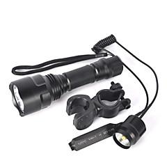 LED zseblámpák Kerékpár világítás LED 5000 Lumen 1 Mód Cree XM-L T6 18650 Csúszásgátló markolat Kis méret Szuper könnyű Nagyítható