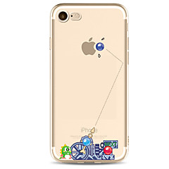 Kompatibilitás iPhone X iPhone 8 iPhone 7 iPhone 7 Plus iPhone 6 tokok Ultra-vékeny Minta Hátlap Case Punk Puha Hőre lágyuló poliuretán