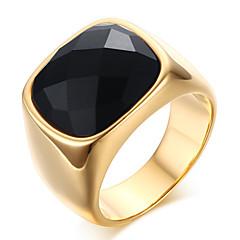 Heren Statementringen Ring Onyx Kostuum juwelen Roestvast staal Agaat Sieraden Voor Feest Dagelijks Causaal