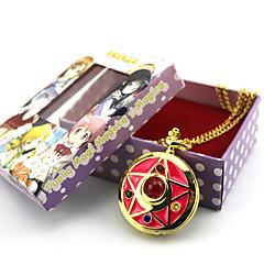 Klokke/Ur Inspireret af Sailor Moon Sailor Moon Anime Cosplay Tilbehør Klokke/Ur Gyldent Legering Kvindelig
