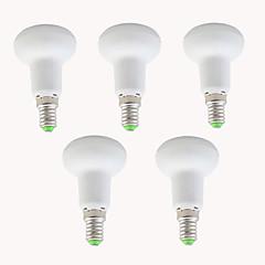 7w 550-600lm e14 led φώτα par r39 12 smd 2835 ζεστό λευκό δροσερό λευκό διακοσμητικό ac 220-240 v 5 τεμ