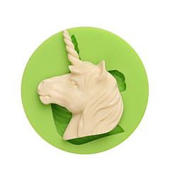 Westerse mythen en legendes unicorn vorm siliconen schimmels voor candy chocolade en koek kleur willekeurig