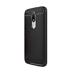 For Stødsikker Etui Bagcover Etui Helfarve Blødt Kulstoffiber for Motorola Moto G3 Moto G4 Play MOTO G4 Moto G4 Plus