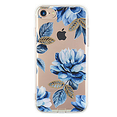 Til iPhone X iPhone 8 iPhone 7 iPhone 7 Plus iPhone 6 Etuier Ultratyndt Mønster Bagcover Etui Blomst Blødt TPU for Apple iPhone X iPhone