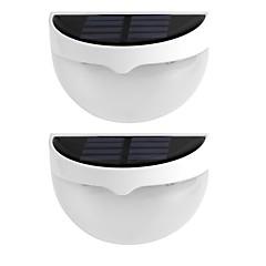2db napfény vízálló IP55 6 led napelemes lámpa kültéri világítás fali lámpa lakberendezési meleg fehér