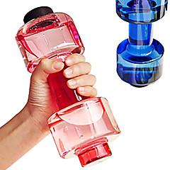 1 adet uygun kişiselleştirilmiş dambıl fincan spor su şişesi plastik bardak, fitness spor şişe sızdırmaz 550 mi uygun mühürlü