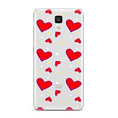 For Transparent Mønster Etui Bagcover Etui Hjerte Blødt TPU for XiaomiXiaomi Mi 5 Xiaomi Mi 4 Xiaomi Mi 5s Xiaomi Mi 5s Plus Xiaomi Mi 3