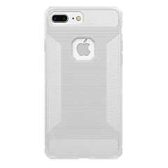 For Gennemsigtig Etui Bagcover Etui Helfarve Blødt Kulstoffiber for AppleiPhone 7 Plus iPhone 7 iPhone 6s Plus iPhone 6 Plus iPhone 6s