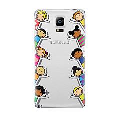 Varten Läpinäkyvä Kuvio Etui Takakuori Etui Piirros Pehmeä TPU varten Samsung Note 5 Note 4 Note 3 Note 2