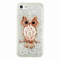 Til iPhone X iPhone 8 Etuier Flydende væske Mønster Bagcover Etui Ugle Glitterskin Blødt TPU for Apple iPhone X iPhone 8 Plus iPhone 8