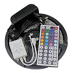 z®zdm vízálló 5m 24W 300smd 2835 RGB LED csík fény 44key távirányító készlet 3a tápegység ac110-240v