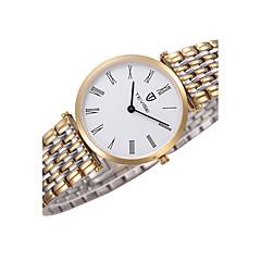Tevise Heren Dames Voor Stel Dress horloge Modieus horloge Polshorloge Kwarts Waterbestendig Roestvrij staal Band Cool Luxueus Zwart Bruin