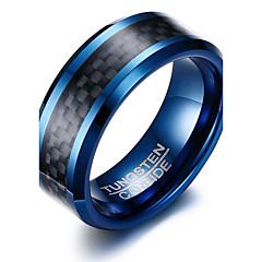 Heren Ring Basisontwerp Modieus PERSGepersonaliseerd Euramerican Eenvoudige Stijl Kostuum juwelen Wolfraamstaal Cirkelvorm Ronde vorm