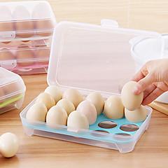 1db 15 üres hűtő tojás doboz tartó megőrzését box hordozható műanyag dobozban hozott tojást otthoni konyhai tároló eszközök véletlenszerű