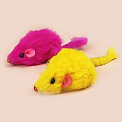 Zabawka dla kota Zabawki dla zwierząt Myszka Zabawka z piórkami Myszka