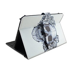 Til Etuier Med stativ Med keyboard Flip Mønster Heldækkende Etui Dødningehoveder Blomst Hårdt Kunstlæder for AppleIPad pro 10.5 iPad