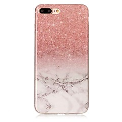 Til iPhone X iPhone 8 Etuier IMD Bagcover Etui Marmor Blødt TPU for Apple iPhone X iPhone 8 Plus iPhone 8 iPhone 7 Plus iPhone 7 iPhone