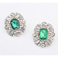 Dame Stangøreringe Dråbeøreringe Store øreringe Imiteret Diamant Enkelt design Rundt design Unikt design Logo Venskab Tyrkisk Bikini