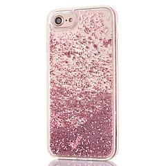 Voor iPhone 8 iPhone 8 Plus Hoesje cover Strass Stromende vloeistof Transparant Achterkantje hoesje Glitterglans Hard PC voor Apple
