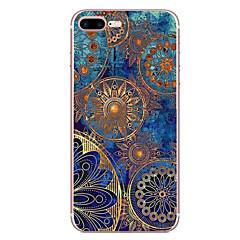 Kompatibilitás iPhone 8 iPhone 8 Plus tokok Minta Hátlap Case Mandala Puha Hőre lágyuló poliuretán mert Apple iPhone 8 Plus iPhone 8