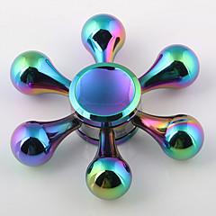 Dikkat Çarkları El iplik makinesi Topaç Oyuncaklar Oyuncaklar Ring Spinner Metal EDC Yenilik ve Göğüs Oyuncakları