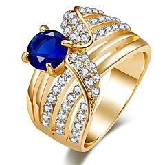 Damskie Duże pierścionki Pierscionek Kryształ Klasyczny Unikalny Cyrkonie luksusowa biżuteria Wyrazista biżuteria biżuteria kostiumowa
