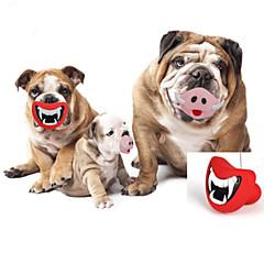Zabawka dla psa Zabawki dla zwierząt Zabawki do żucia Usta Gumowy Czerwony Różowy