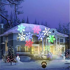 youoklight 12w rgbw nyaralás dekoráció vízálló hópehely projektor lámpa us / eu plug ac100-240v 1db