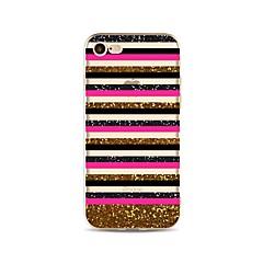Taske til iphone 7 plus 7 cover mønster bagcover case linjer / bølger glitter linjer / bølge soft tpu til iphone 6s plus 6 plus 6s 6 se 5s