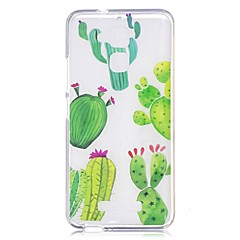 Voor asus zenfone 3 max zc520tl case cover cactus patroon back cover soft tpu