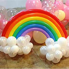 무지개 풍선 세트 생일 파티 웨딩 장식 (20 긴 풍선, 16 라운드 풍선, 임의의 색상)