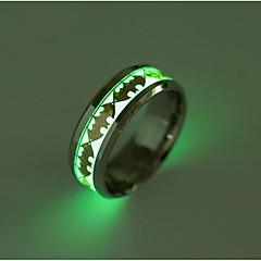 Férfi Női Karikagyűrűk Divat Titanium Acél Ékszerek Ékszerek Kompatibilitás Napi