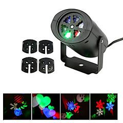ywxlight® 3w eu us dugó nem vízálló hópehely karácsonyi kivetítő fény otthoni kertre tájkép világítás mintázott vetítő fény 1db