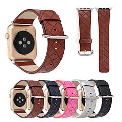para relógio de maçã iwatch impressão a xadrez faixa de faixa de relógio costurada