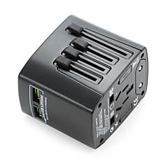 유니버설 여행 어댑터 4.8a 2 usb 충전 포트 전세계 모든 하나의 범용 전력 변환기 벽 충전기