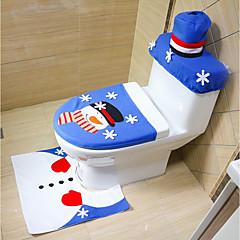 estilo aleatório feliz natal e feliz ano novo melhor presente de natal&decorações de natal tapete de assento de banheiro