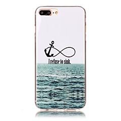 Kompatibilitás iPhone X iPhone 8 tokok Minta Hátlap Case Horgony Puha Hőre lágyuló poliuretán mert Apple iPhone X iPhone 8 Plus iPhone 8